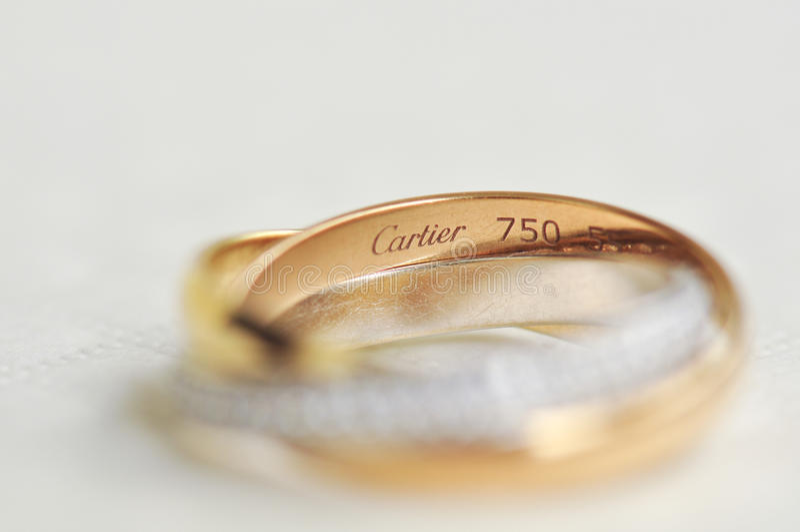 Anillos de la trinidad de Cartier imágenes de archivo libres de regalías