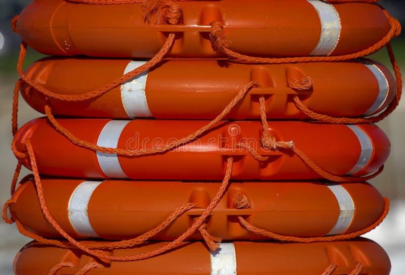 Anillos de vida anaranjados imagen de archivo
