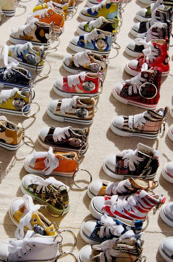 Anillos dominantes del zapato de bebé foto de archivo libre de regalías