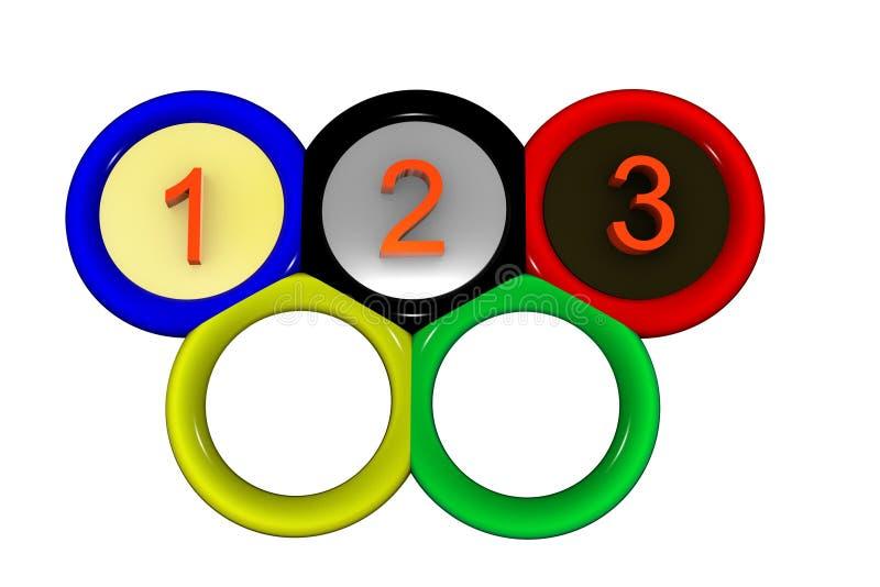 Anillos olímpicos stock de ilustración