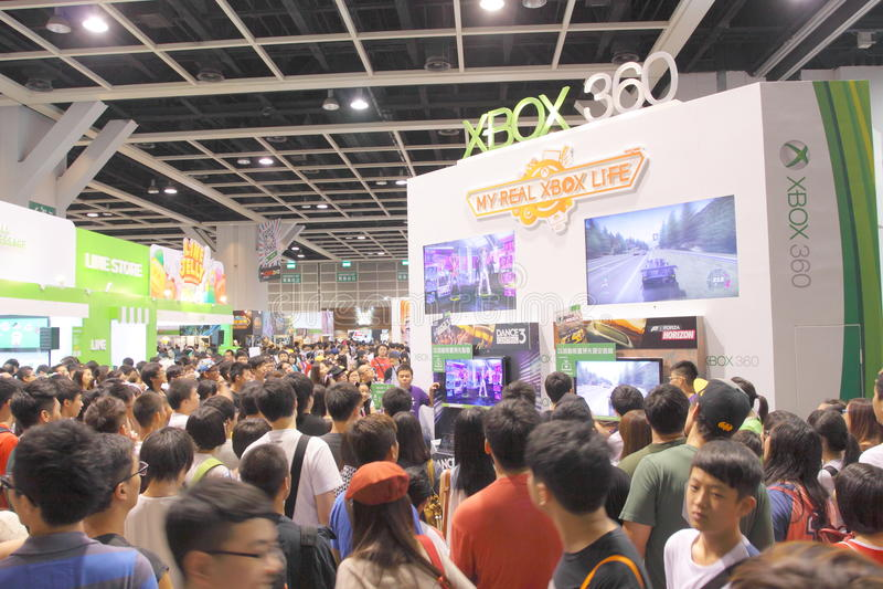 Animação, banda desenhada & expo Hong Kong 2013 dos jogos foto de stock royalty free