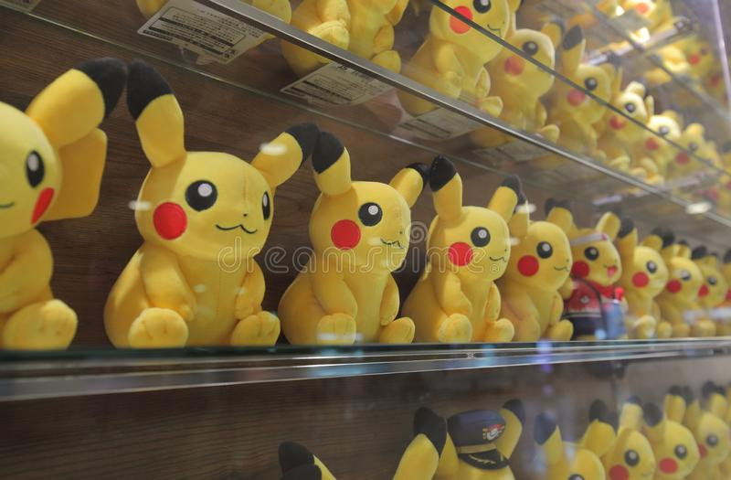 Animação do japonês de Pokemon foto de stock