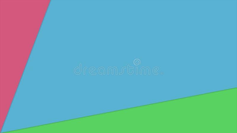 Animação elegante 3d da transição da cor do fundo bonito do sumário para render ilustração do vetor