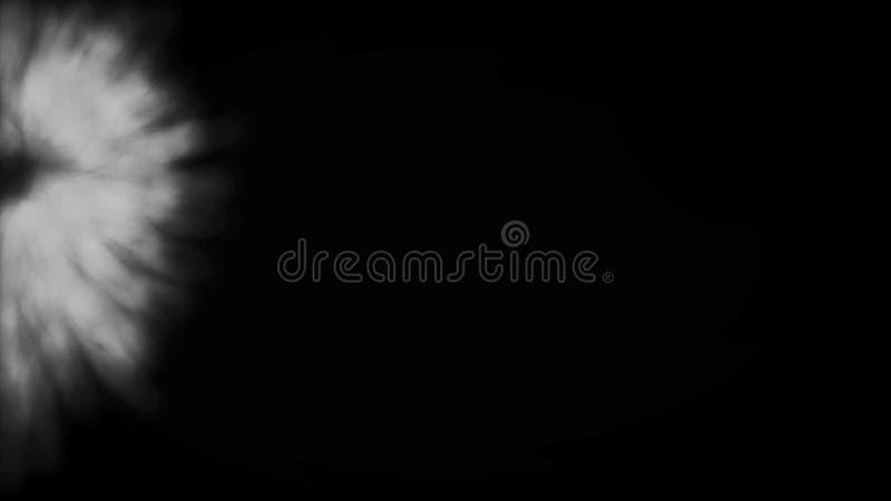 Animación de colocación líquida oscura abstracta de la superficie oscura del flujo del agua o del aceite, tela de seda con reflex imagen de archivo