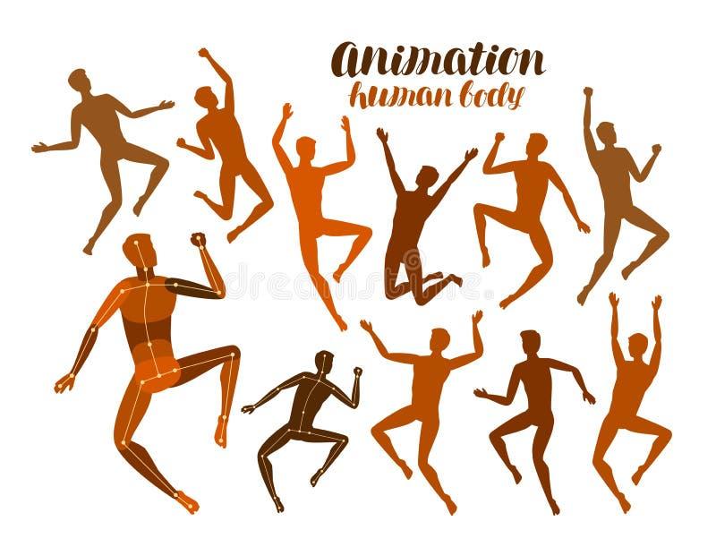 Animación Del Cuerpo Humano Anatomía, Gente En Concepto Del ...
