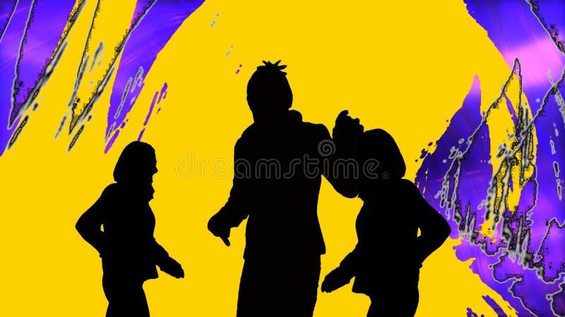 Animación que muestra el baile de la gente ilustración del vector