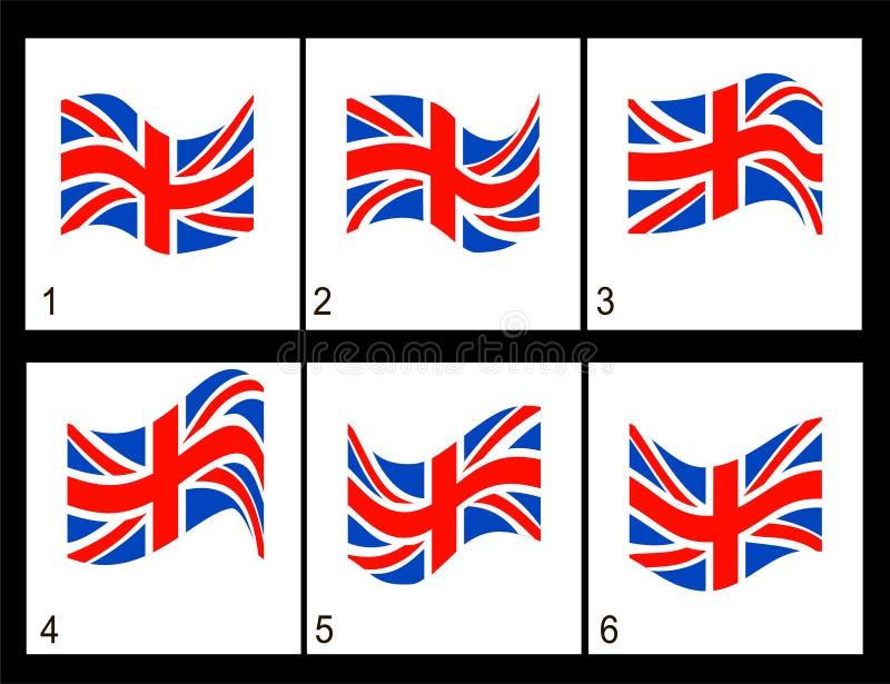 Animacj angielszczyzn flaga ilustracji