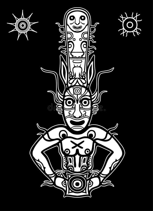 Animacja wizerunek antyczny pogański bóg ilustracja wektor
