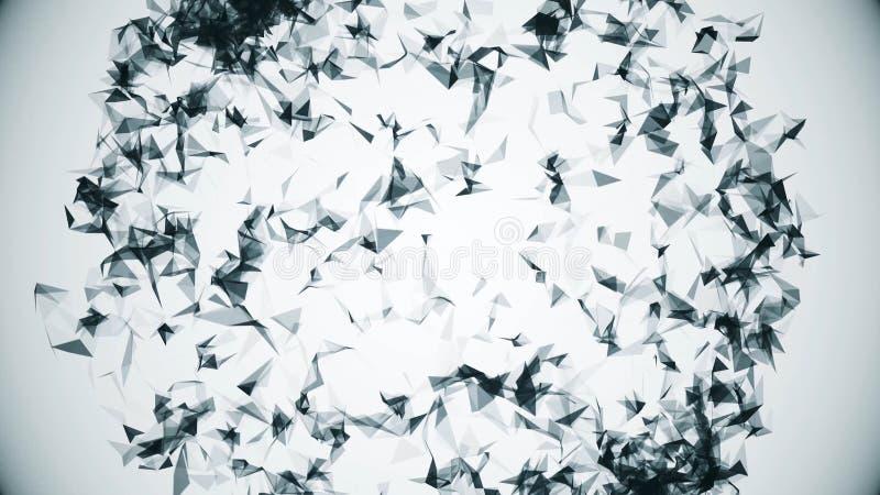 Animacji stylowy kółkowy plexus sfera w obracaniu Cyfrowego projekta pojęcie Abstrakcjonistyczna płodozmienna geometryczna sfera ilustracja wektor
