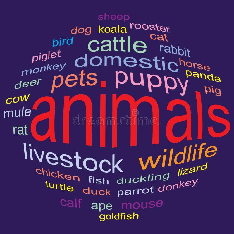 Animais ilustração stock