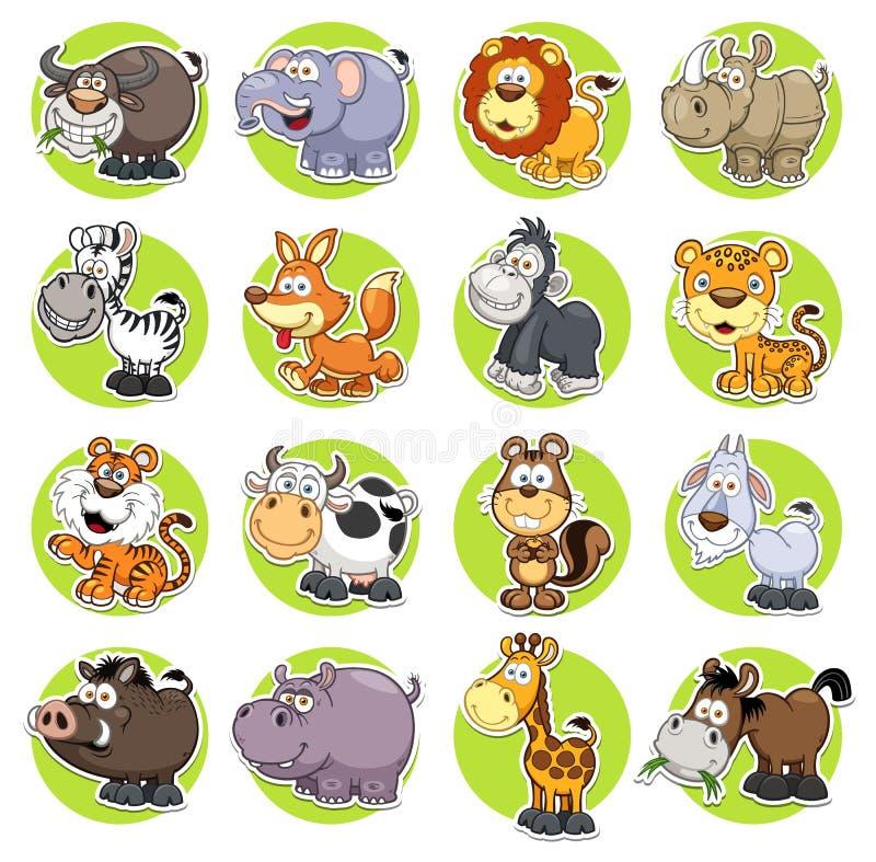 Animais ajustados ilustração do vetor