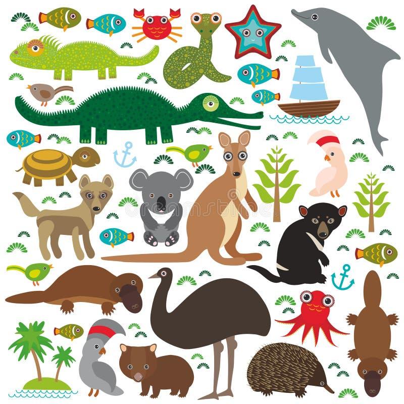 Animais Austrália ilustração do vetor