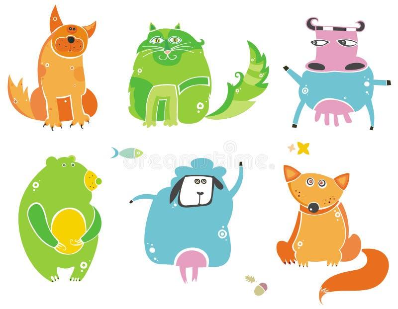 Animais bonitos ilustração royalty free
