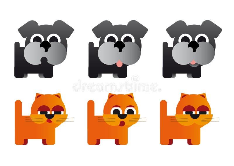 Animais da caricatura ilustração stock