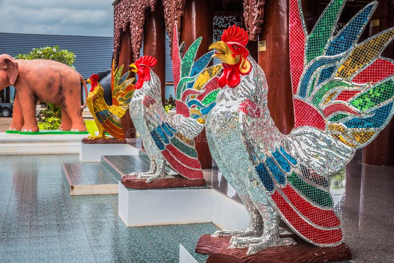 Animais da est?tua do mito em Tail?ndia ?Wat Den Salee Sri Muang Gan nomeado templo Wat Ban Den ? imagens de stock royalty free