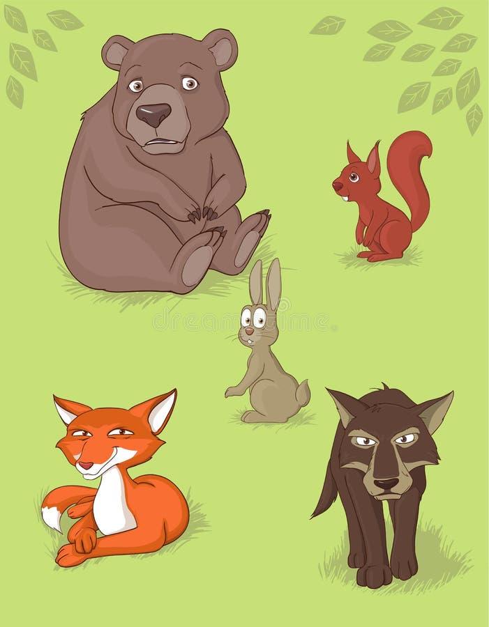 Animais da floresta ilustração do vetor