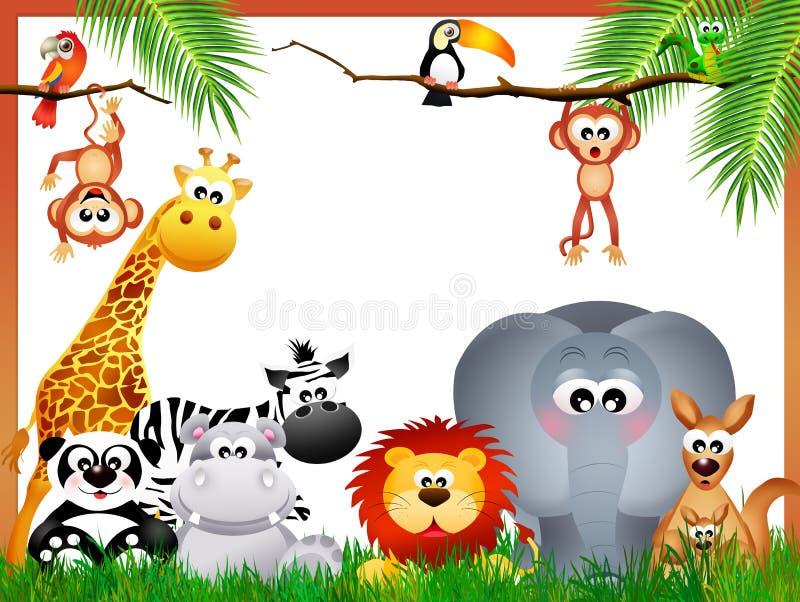 Animais da selva ilustração stock