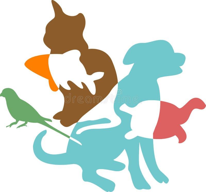 Animais de estimação ilustração royalty free