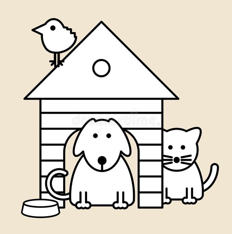 Animais de estimação ilustração stock