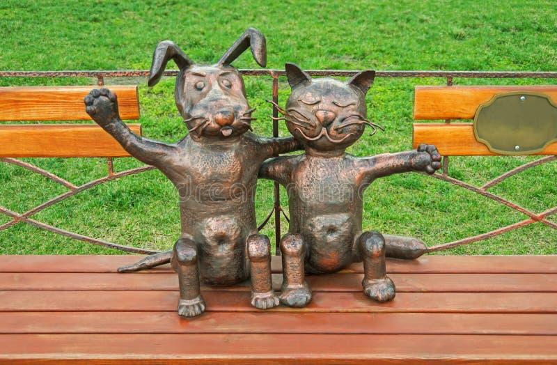 Animais de estimação da escultura imagem de stock royalty free