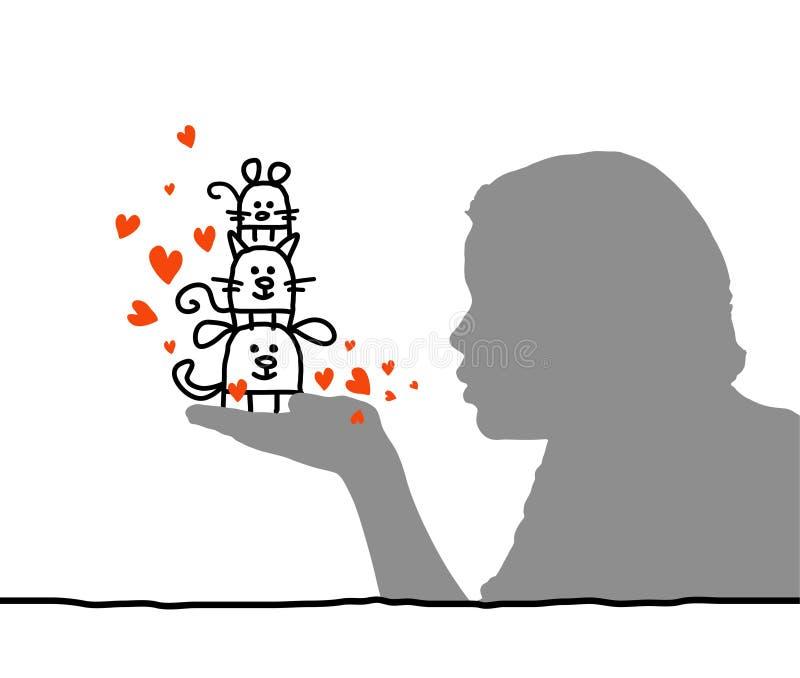Animais de estimação Loving ilustração royalty free