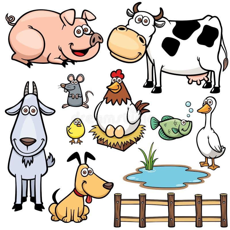 Animais de exploração agrícola ilustração stock