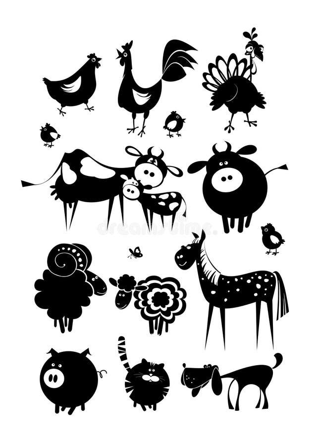 Animais de exploração agrícola pets ilustração royalty free