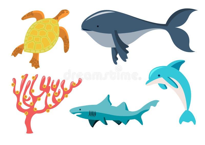 Animais de mar ilustração royalty free