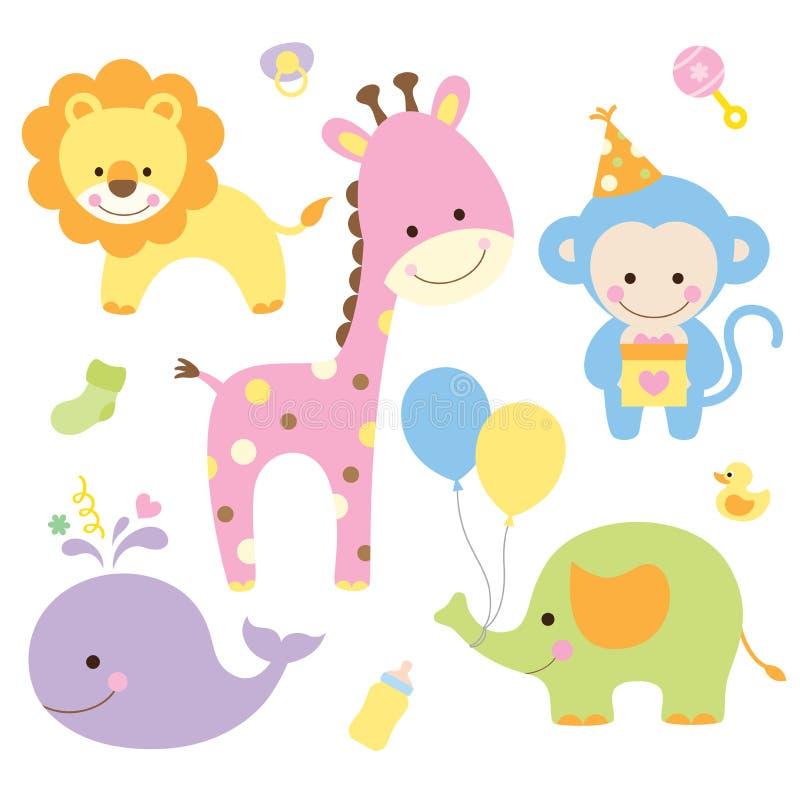 Animais de partido ilustração royalty free