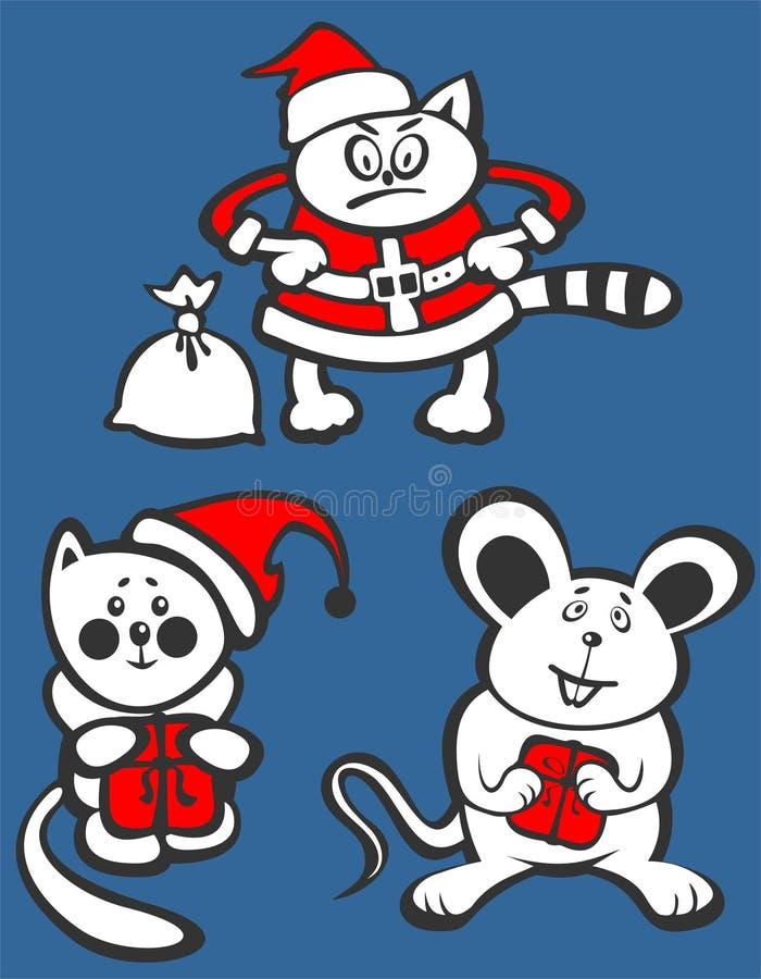 Animais do Natal ilustração royalty free