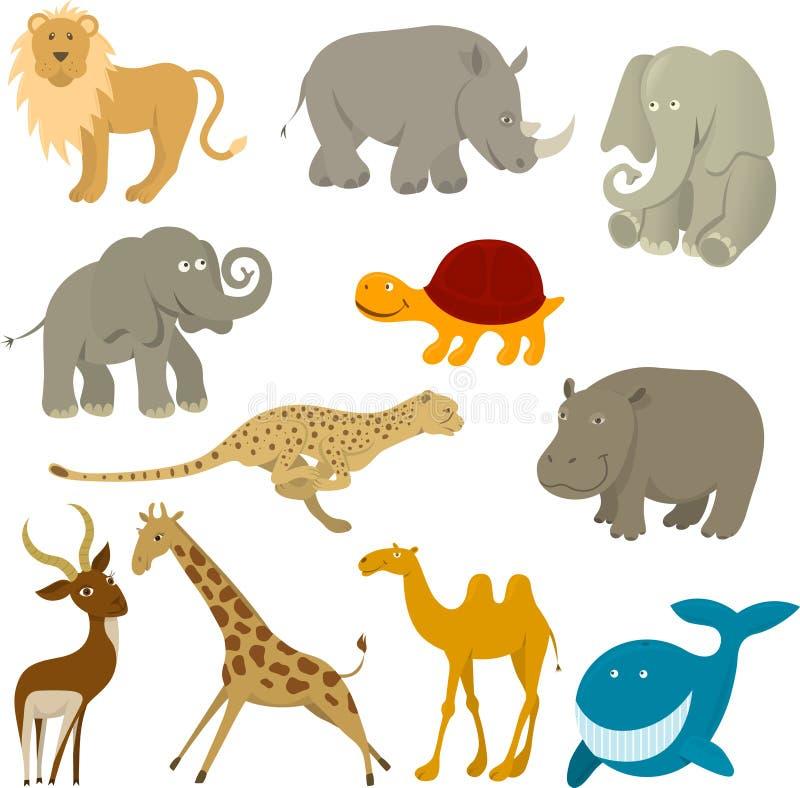 Animais dos animais selvagens ilustração royalty free