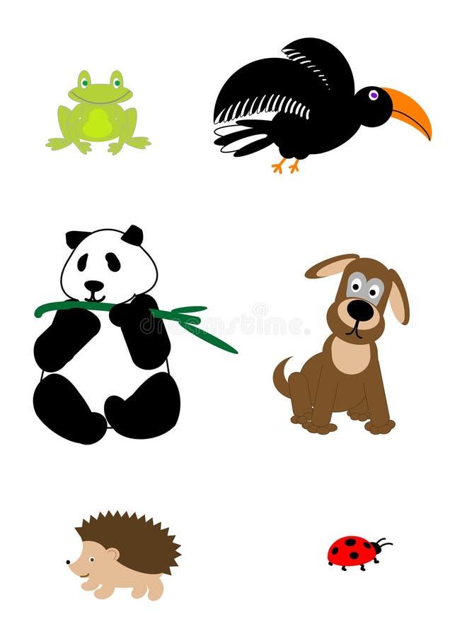 Animais dos desenhos animados - vetor ilustração do vetor