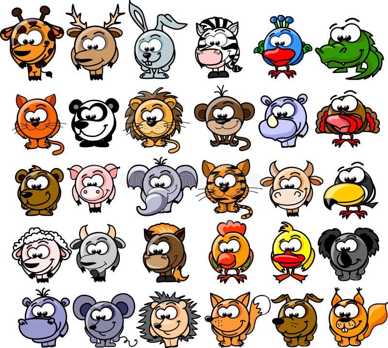 Animais dos desenhos animados, vetor ilustração do vetor