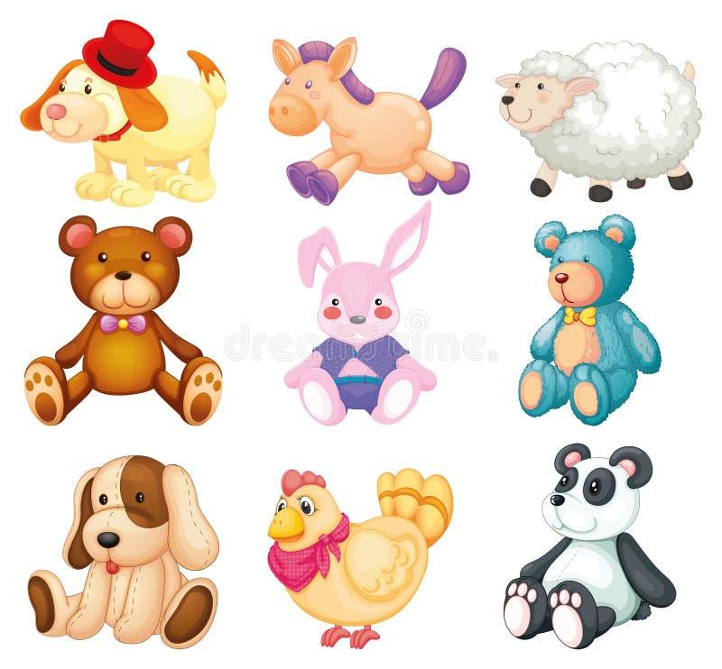 Animais enchidos ilustração royalty free