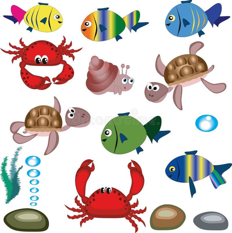 Animais marinhos ilustração royalty free