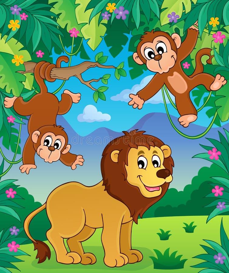 Animais na imagem 3 do assunto da selva ilustração stock
