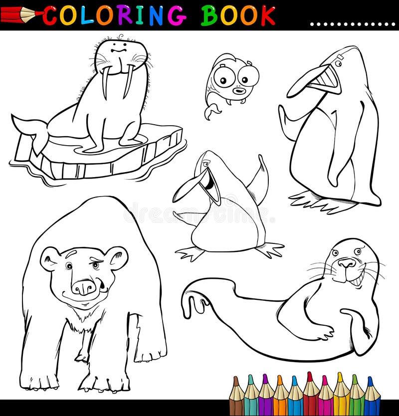 Animais para o livro ou a página de coloração ilustração do vetor