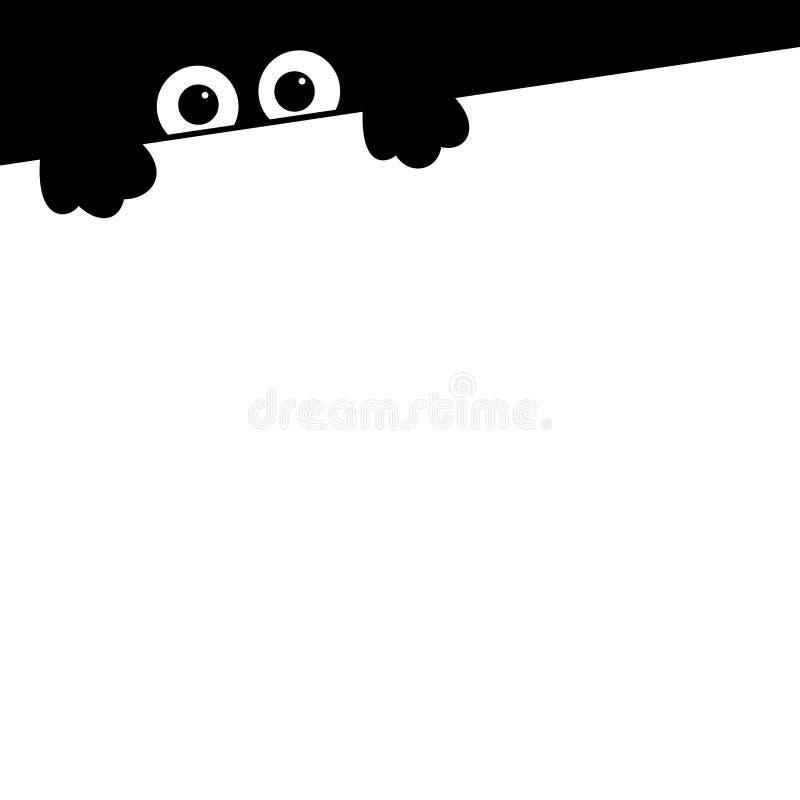 Animais pretos do ícone quadriculação ilustração stock
