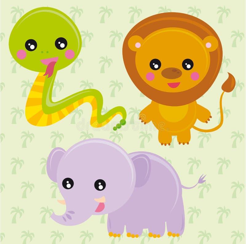 Animais selvagens ilustração stock
