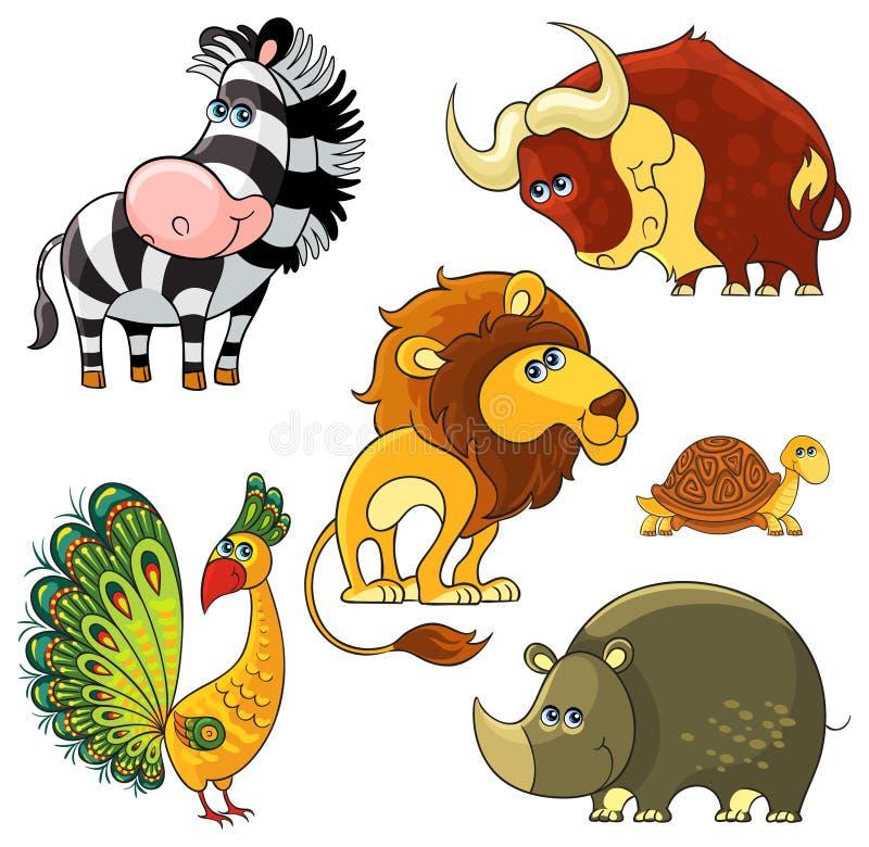 Animais selvagens africanos ajustados ilustração do vetor