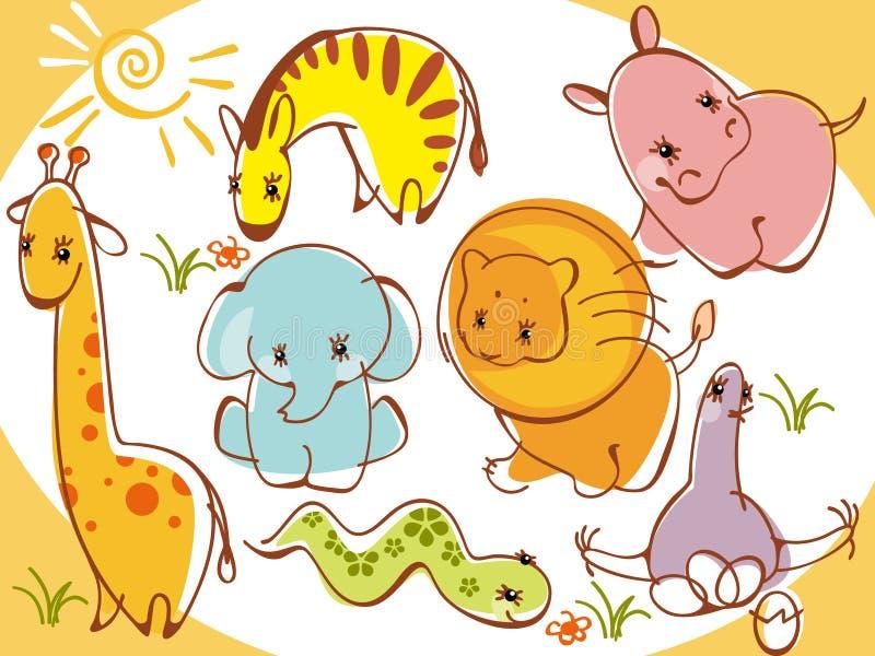 Animais selvagens da coleção ilustração do vetor