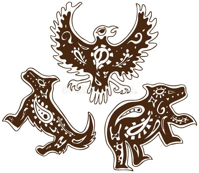 Animais tribais ilustração do vetor