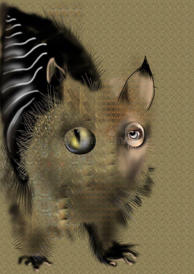 Animal abstracto extraño sobre un fondo beige libre illustration
