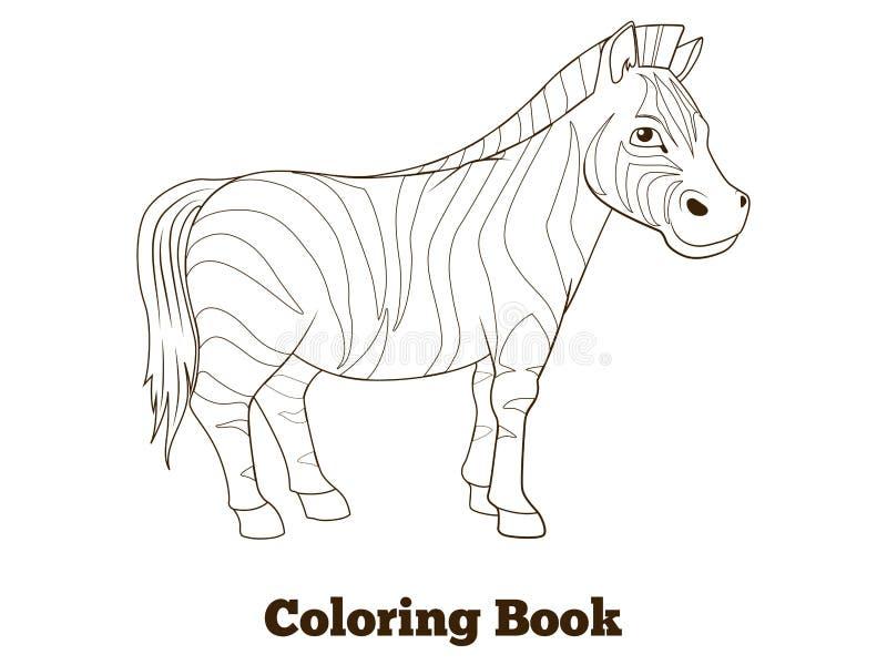 Animal Africano De La Sabana De La Cebra Del Libro De Colorear ...
