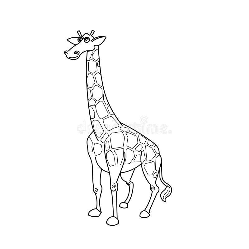 Animal Africano De La Sabana De La Jirafa Del Libro De Colorear ...