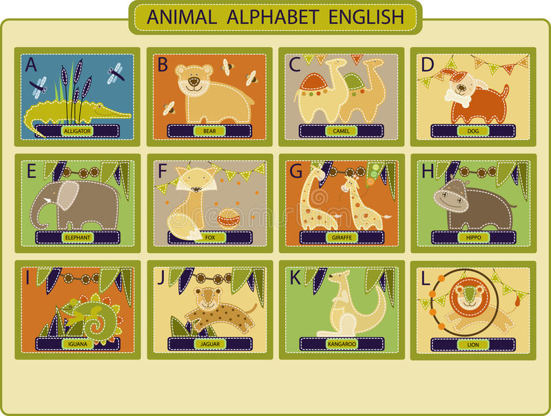 Animal-alphabet 1 image stock