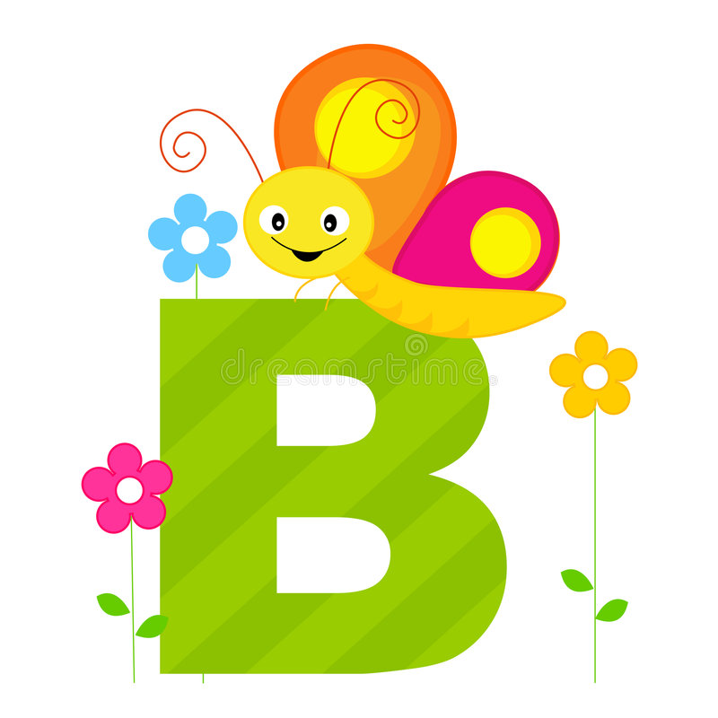 Animal Alphabet B stock images