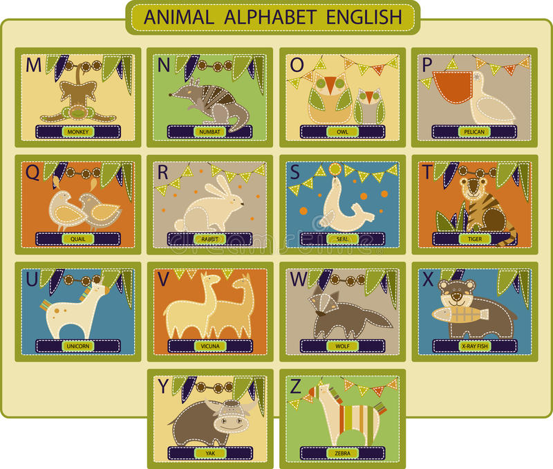 Animal-alphabet2 royalty free stock photos
