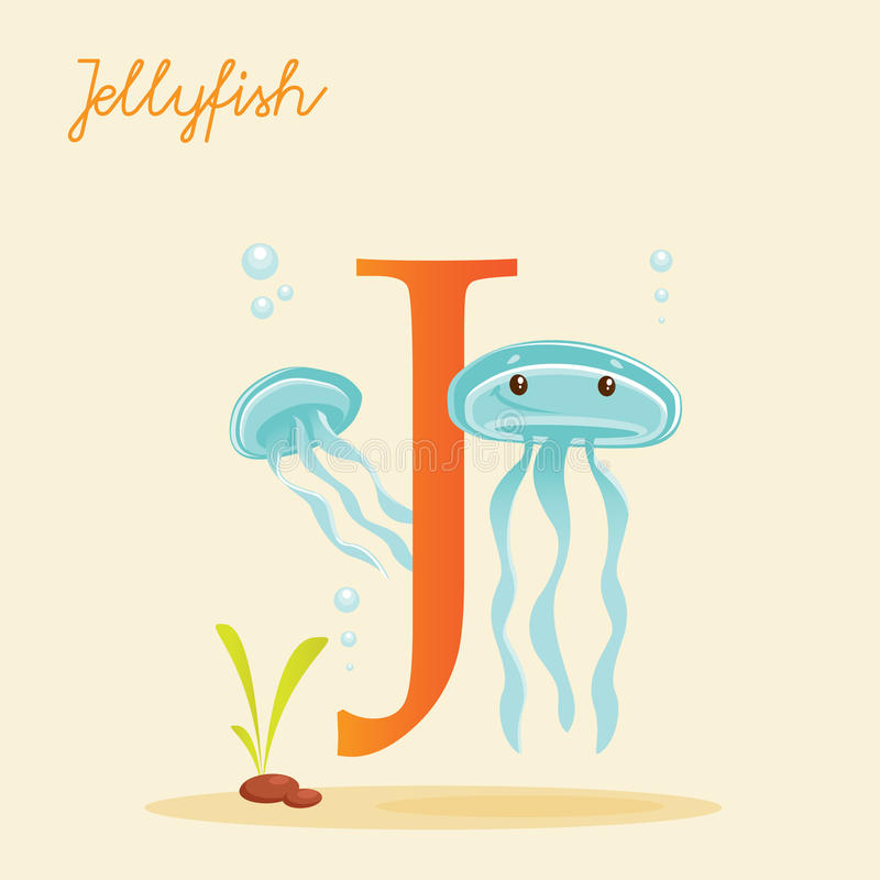 Download Animal Alphabet With Jellyfish Stock Vector - Image: 31401457