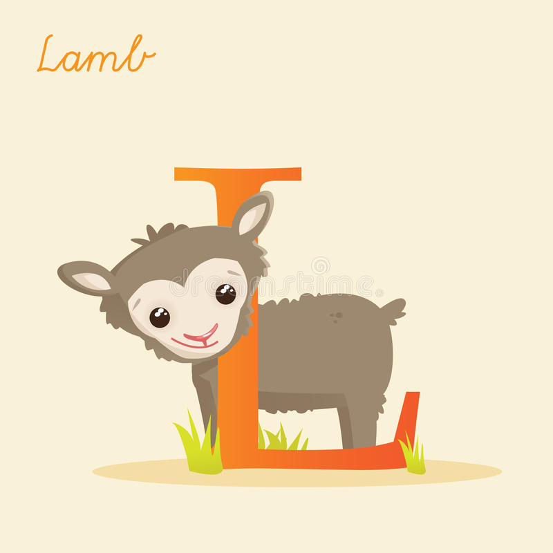 Download Animal alphabet with lamb stock vector. Illustration of lamb - 29804799